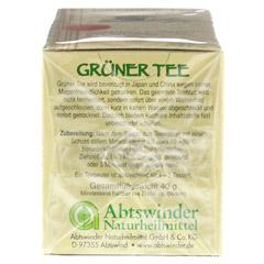 GRÜNER TEE Filterbeutel 20 Stück - Linke Seite