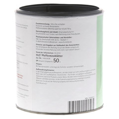 H&S Pfefferminzbl�tter (loser Tee) 50 Gramm - R�ckseite