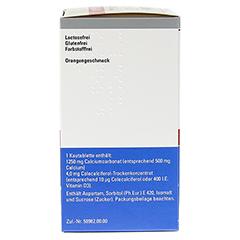 CALCIUM SANDOZ D Osteo Kautabletten + gratis Wirbelsäulengymnastik-Buch Calcium-Sandoz 120 Stück N3 - Rechte Seite