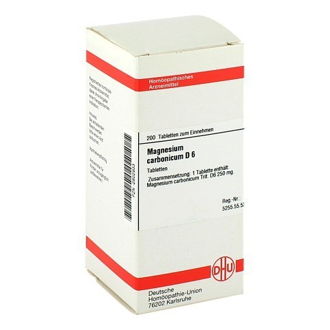 MAGNESIUM CARBONICUM D 6 Tabletten 200 St�ck N2