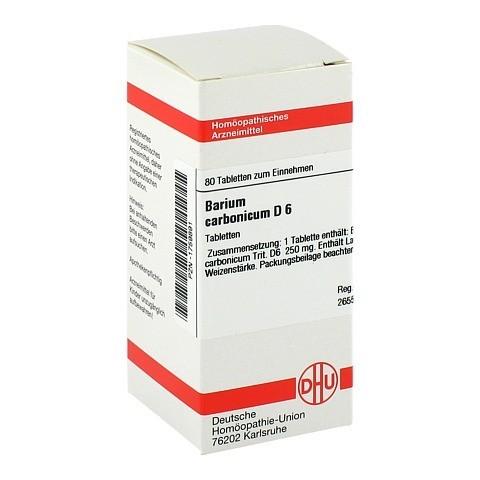 BARIUM CARBONICUM D 6 Tabletten 80 St�ck N1