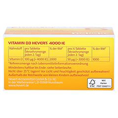 VITAMIN D3 Hevert 4.000 I.E. Tabletten 90 Stück - Unterseite