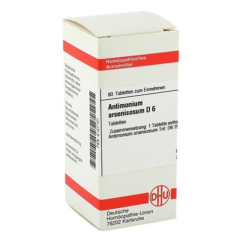 ANTIMONIUM ARSENICOSUM D 6 Tabletten 80 St�ck N1