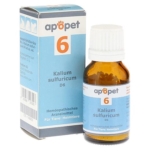 APOPET Schüßler-Salz Nr.6 Kalium sulf.D 6 vet. 12 Gramm
