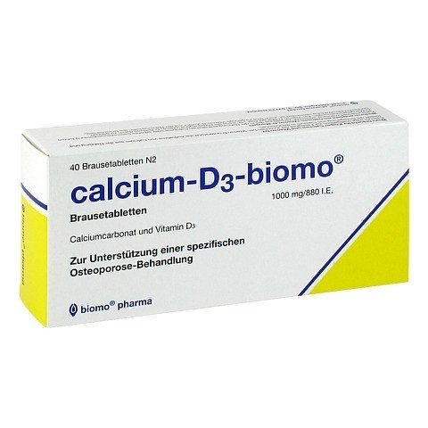CALCIUM D3 biomo 1000 mg/880 I.E. Brausetabletten 40 St�ck