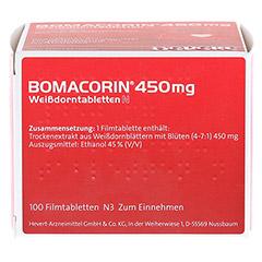 Bomacorin 450mg Weißdorntabletten N 100 Stück N3 - Oberseite