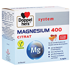 DOPPELHERZ Magnesium 400 Citrat system Granulat 20 St�ck