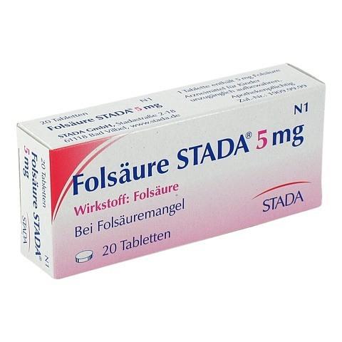 FOLSÄURE STADA 5 mg Tabletten 20 Stück N1