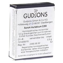 AURUM MURIATICUM C 200 Einzeldosis Globuli 0.5 Gramm N1