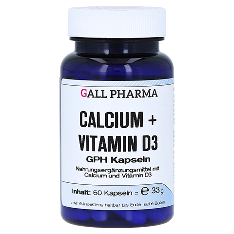 CALCIUM+VITAMIN D3 GPH Kapseln 60 St�ck