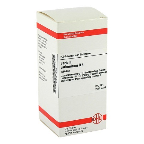 BARIUM CARBONICUM D 4 Tabletten 200 St�ck N2
