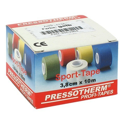 PRESSOTHERM Sport-Tape 3,8 cmx10 m gelb 1 St�ck