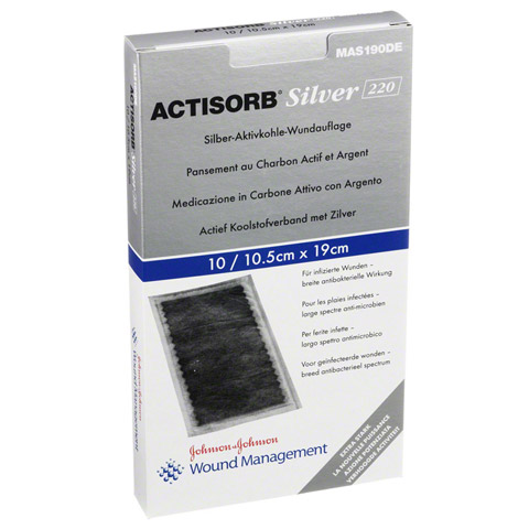 ACTISORB 220 Silver 10,5x19 cm steril Kompressen 10 St�ck