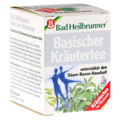 BAD HEILBRUNNER Tee Basische Kräuter Filterbeutel 8 Stück