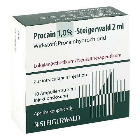 PROCAIN 1% Steigerwald Injektionslösung 10x2 Milliliter