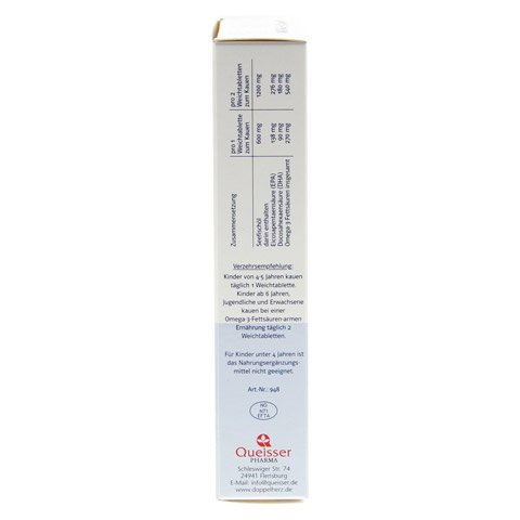 DOPPELHERZ Omega 3 Junior Gel Tabs system Kautabl. 60 St�ck - Linke Seite