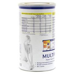 MULTAN mit L-Carnitin Pulver 500 Gramm - Rückseite