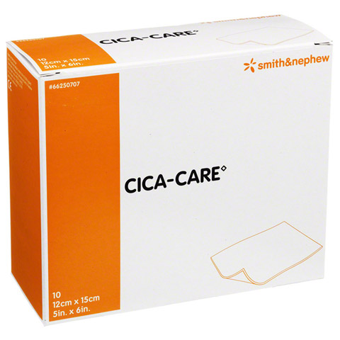 CICA CARE 12x15 cm d�nne Silikongelplat.z.Narbenb. 10 St�ck