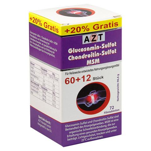 GLUCOSAMIN-Sulfat Chrondroitin-Sulfat MSM Filmtab. 72 St�ck