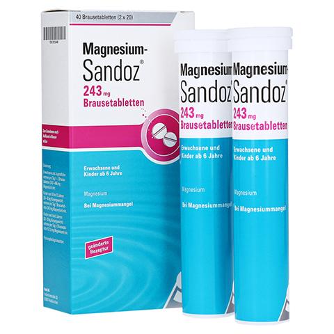 MAGNESIUM SANDOZ 243 mg Brausetabletten 40 Stück