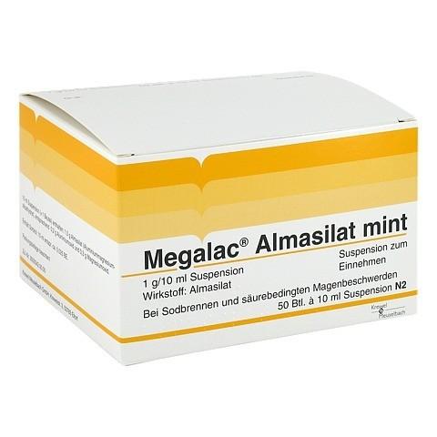 Megalac Almasilat mint Beutel 50x10 Milliliter N2