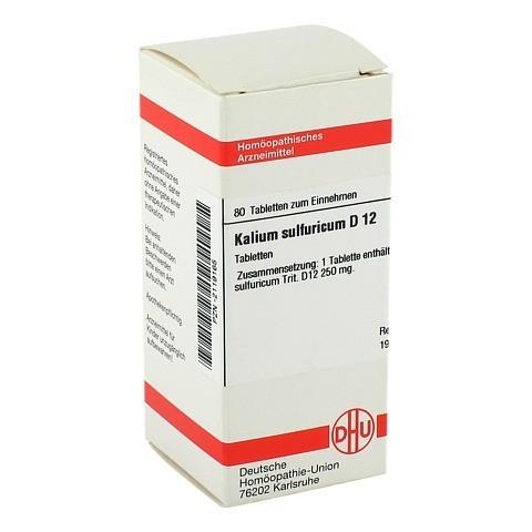 KALIUM SULFURICUM D 12 Tabletten 80 Stück N1