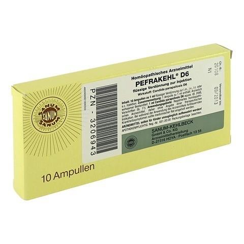 PEFRAKEHL Ampullen D 6 10x1 Milliliter N1