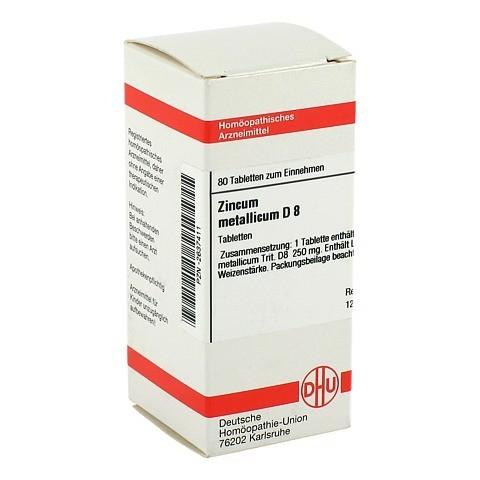 ZINCUM METALLICUM D 8 Tabletten 80 St�ck N1