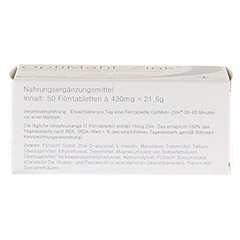 OPTIMAHL Zink 15 mg Tabletten 50 Stück - Oberseite