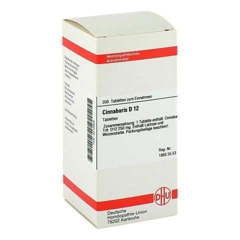 CINNABARIS D 12 Tabletten 200 St�ck N2