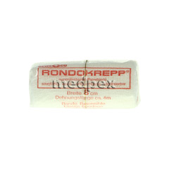 RONDOKREPP Binde weiß 4mx8cm 1 Stück