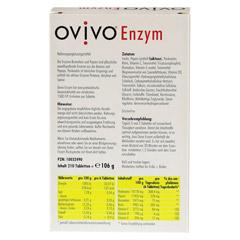OVIVO Enzym magensaftresistente Tabletten 210 Stück - Rückseite
