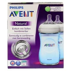 AVENT Flasche 260 ml Naturnah blau 2 Stück - Vorderseite