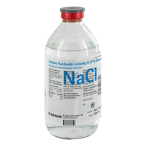 KOCHSALZLÖSUNG 0,9% Glasfl. 500 Milliliter N1