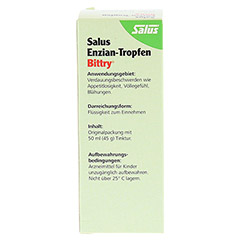 Salus Enzian-Tropfen Bittry 50 Milliliter - Rückseite