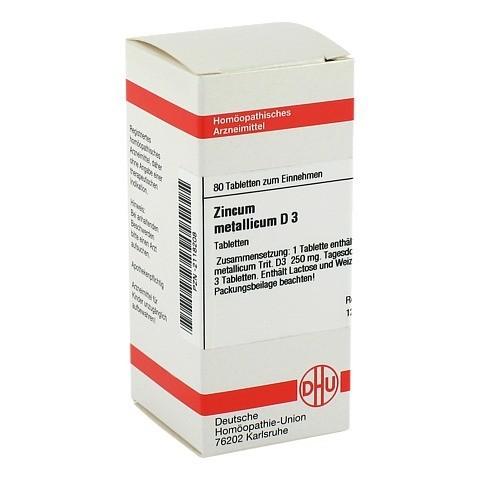 ZINCUM METALLICUM D 3 Tabletten 80 Stück N1