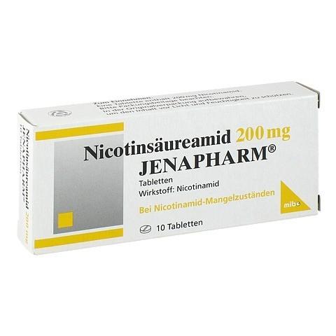 NICOTINSÄUREAMID 200 mg Jenapharm Tabletten 10 Stück N1
