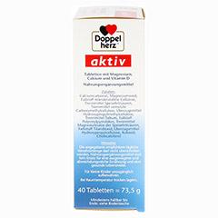 DOPPELHERZ Magnesium+Calcium+D3 Tabletten 40 Stück - Rechte Seite
