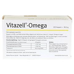 VITAZELL-Omega Kapseln 120 St�ck - R�ckseite