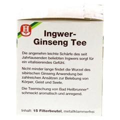 BAD HEILBRUNNER Tee Ingwer Ginseng Filterbeutel 15 Stück - Linke Seite
