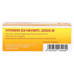 VITAMIN D3 Hevert 2.000 I.E. Tabletten 60 Stück - Unterseite