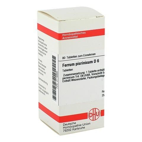 FERRUM PICRINICUM D 6 Tabletten 80 Stück N1