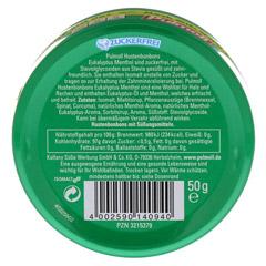PULMOLL Hustenbonbons Eukalyptus zuckerfrei 50 Gramm - R�ckseite