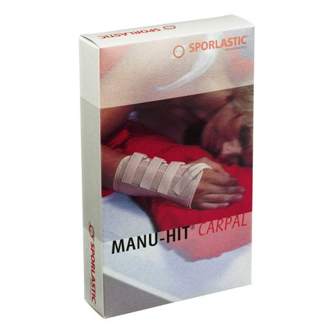 MANU-HIT CARPAL Orthese links Gr.M schwarz 07233 1 Stück