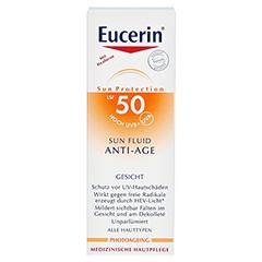 EUCERIN Sun Fluid Anti-Age LSF 50 50 Milliliter - Vorderseite
