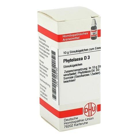 PHYTOLACCA D 3 Globuli 10 Gramm N1