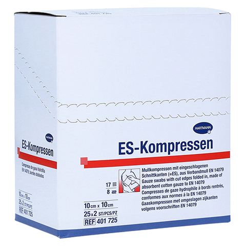 ES-KOMPRESSEN steril 10x10 cm 8fach 25x2 St�ck