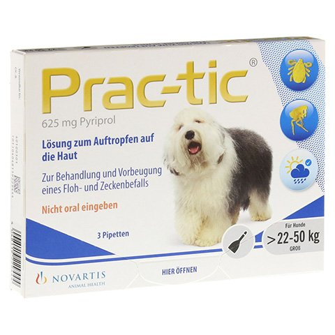 PRAC tic f.gro�e Hunde 22-50 kg Einzeldosispip. 3 St�ck