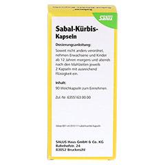 SABAL K�RBIS Kapseln Salucur Salus 90 St�ck - R�ckseite