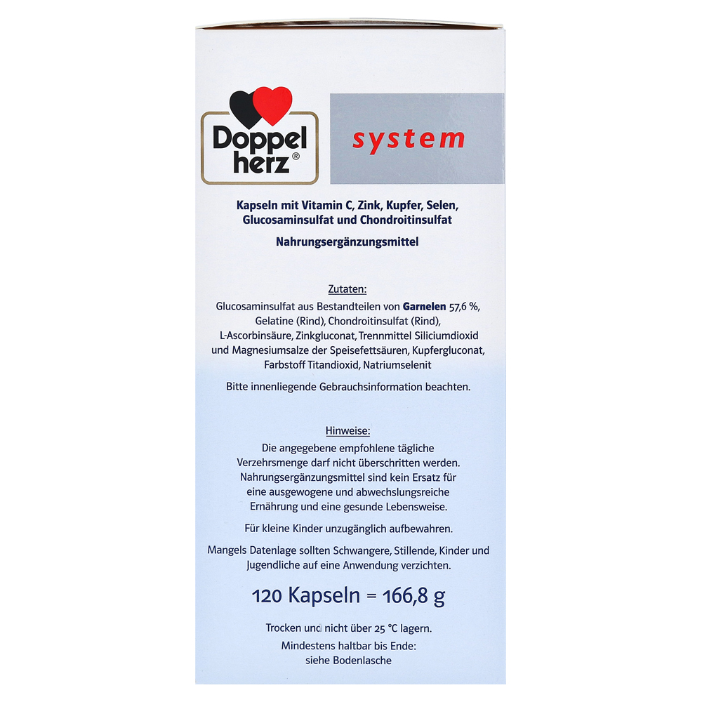 doppelherz glucosamin plus 800 system kapseln 120 st ck. Black Bedroom Furniture Sets. Home Design Ideas